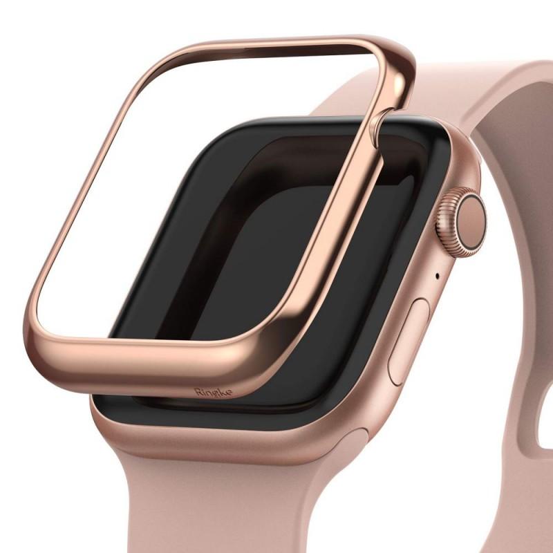 RINGKE BEZEL STYLING APPLE WATCH 4/5/6/SE (44MM) GLOSSY PINK GOLD