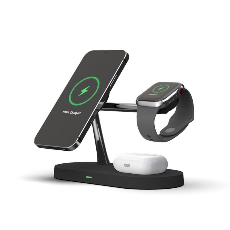 TECH-PROTECT A12 3IN1 MAGNETIC MAGSAFE WIRELESS CHARGER BLACK