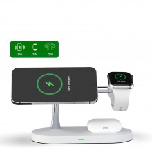 TECH-PROTECT A12 3IN1 MAGNETIC MAGSAFE WIRELESS CHARGER WHITE