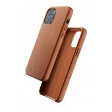 Mujjo Full Leather Wallet Case - etui oskórzane do iPhone 12/12 Pro (brązowe)