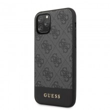 Guess 4G Bottom Stripe Collection - Etui iPhone 11 Pro (szary)