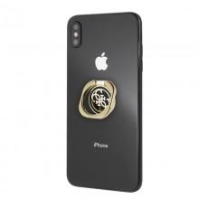 Guess Metal Ring Stand 4G - Magnetyczny uchwyt na palec do telefonu z funkcją standu (złoty/czarny)
