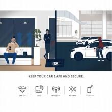 KLATKA FARADAYA TECH-PROTECT V2 KEYLESS RFID SIGNAL BLOCKER CASE BLACK/RED