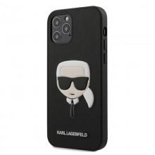 Karl Lagerfeld Saffiano Ikonik Karl`s Head – Etui iPhone 12 Pro Max (czarny)