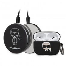 Karl Lagerfeld Bundle Ikonik – Zestaw etui do Apple Airpods Pro +  Power Bank z lusterkiem