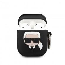 Karl Lagerfeld Bundle Ikonik – Zestaw etui do Apple Airpods 1 / 2 + Power Bank z lusterkiem