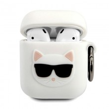 Karl Lagerfeld Choupette 3D - Etui Apple Airpods (white)