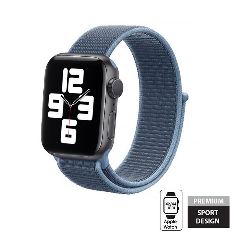 Crong Nylon - Pasek sportowy do Apple Watch 42/44mm (Ocean Blue)