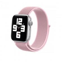 Crong Nylon - Pasek sportowy do Apple Watch 38/40mm (Powder Pink)