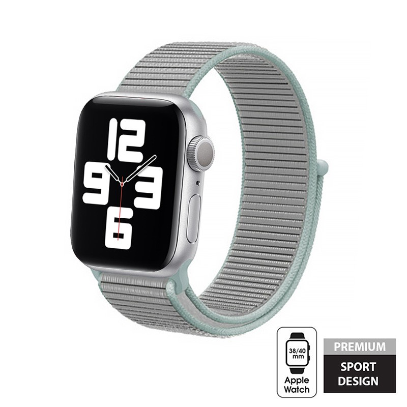 Crong Nylon - Pasek sportowy do Apple Watch 38/40mm (Pastel Grey)