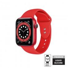 Crong Liquid - Pasek do Apple Watch 42/44 mm (czerwony)