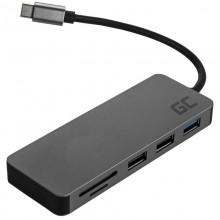 Green Cell - Stacja dokująca HUB USB-C HDMI 4K DEX SD & MicroSD card slot USB 3.0