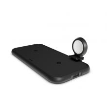 ZENS Aluminium 4w1 - ładowarka bezprzewodowa do dwóch urządzeń, USB oraz Apple Watch (czarna)