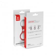 Crong Leather Case with Key Ring – Skórzany brelok do Apple AirTag (czerwony)