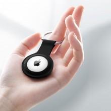 Crong Silicone Case with Key Ring – Brelok do Apple AirTag (czarny)