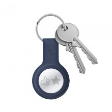 Crong Silicone Case with Key Ring – Brelok do Apple AirTag (granatowy)
