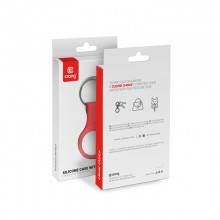 Crong Silicone Case with Key Ring – Brelok do Apple AirTag (czerwony)
