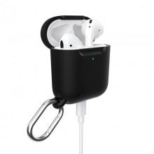 Speck Presidio Pro - Etui Apple AirPods z karabińczykiem i ochroną antybakteryjną Microban (Black)