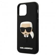 Karl Lagerfeld 3D Rubber Karl`s Head – Etui iPhone 12 Pro Max (czarny)