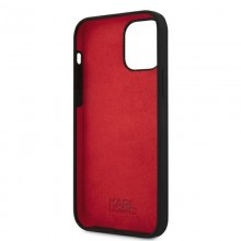 Karl Lagerfeld Silicone Stack Logo - Etui iPhone 12 / iPhone 12 Pro (czarny)