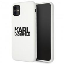 Karl Lagerfeld Silicone Stack Logo - Etui iPhone 11 (biały)