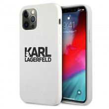 Karl Lagerfeld Silicone Stack Logo - Etui iPhone 12 / iPhone 12 Pro (biały)