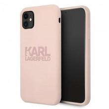 Karl Lagerfeld Silicone Stack Logo - Etui iPhone 11 (różowy)