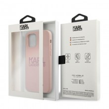 Karl Lagerfeld Silicone Stack Logo - Etui iPhone 12 / iPhone 12 Pro (różowy)