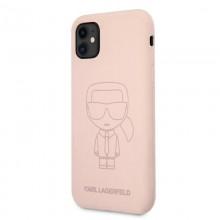 Karl Lagerfeld Silicone Ikonik Outline - Etui iPhone 11 (różowy)
