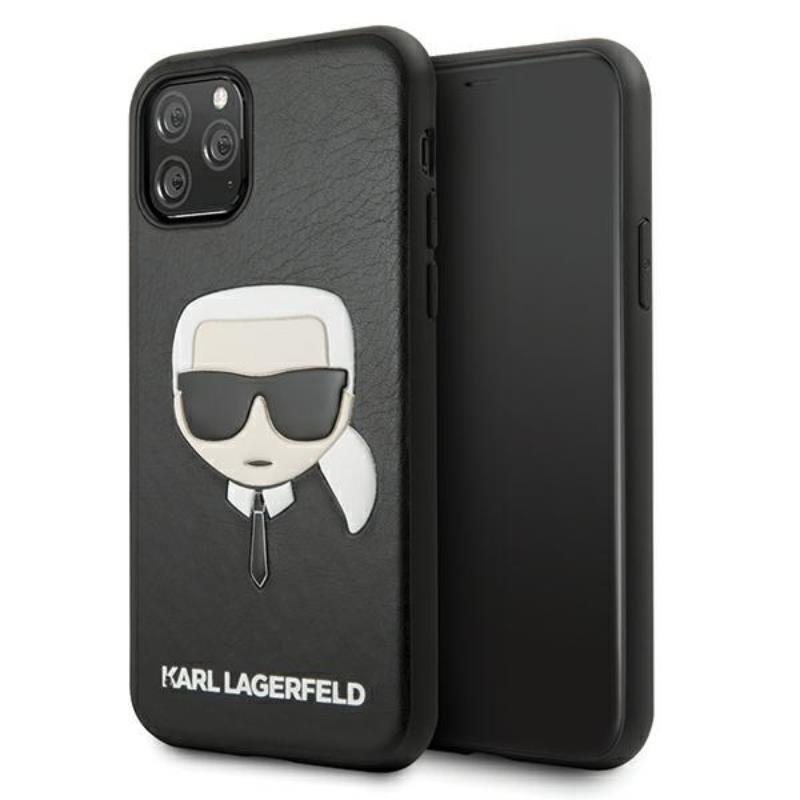 Karl Lagerfeld Silicone Ikonik Karl`s Head - Etui iPhone 11 Pro (czarny)