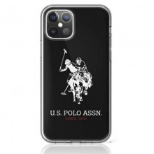 US Polo Assn Big Double Horse Logo - Etui iPhone 12 Pro Max (czarny)