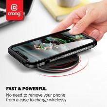 Crong PowerSpot Fast Wireless Charger – Bezprzewodowa ładowarka Qi 15W USB-C (Shadow Black)