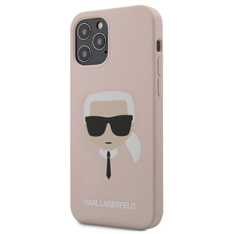 Karl Lagerfeld Silicone Ikonik Karl`s Head - Etui iPhone 12 / iPhone 12 Pro (różowy)