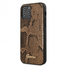 Guess Python Collection - Etui iPhone 12 / iPhone 12 Pro (brązowy)