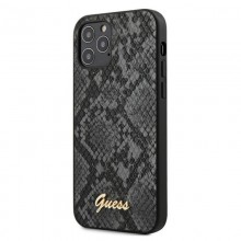 Guess Python Collection - Etui iPhone 12 / iPhone 12 Pro (czarny)