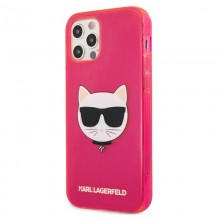 Karl Lagerfeld Choupette Head - Etui iPhone 12 / iPhone 12 Pro (Fluo Pink)
