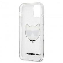 Karl Lagerfeld Choupette Head Glitter - Etui iPhone 12 Pro Max (Silver)