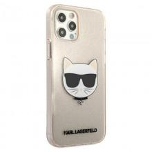 Karl Lagerfeld Choupette Head Glitter - Etui iPhone 12 Pro Max (Gold)