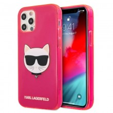 Karl Lagerfeld Choupette Head - Etui iPhone 12 Pro Max (Fluo Pink)