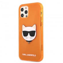 Karl Lagerfeld Choupette Head - Etui iPhone 12 Pro Max (Fluo Orange)