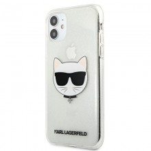 Karl Lagerfeld Choupette Head Glitter - Etui iPhone 11 (Silver)