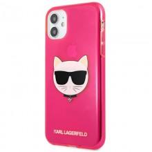 Karl Lagerfeld Choupette Head - Etui iPhone 11 (Fluo Pink)