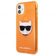 Karl Lagerfeld Choupette Head - Etui iPhone 11 (Fluo Orange)