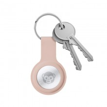 Crong Silicone Case with Key Ring – Brelok do Apple AirTag (piaskowy róż)