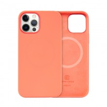 Crong Color Cover Magnetic - Etui iPhone 12 / iPhone 12 Pro MagSafe (koralowy)