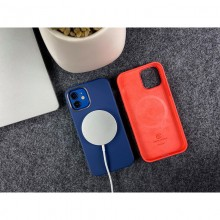 Crong Color Cover Magnetic - Etui iPhone 12 Pro Max MagSafe (czerwony)