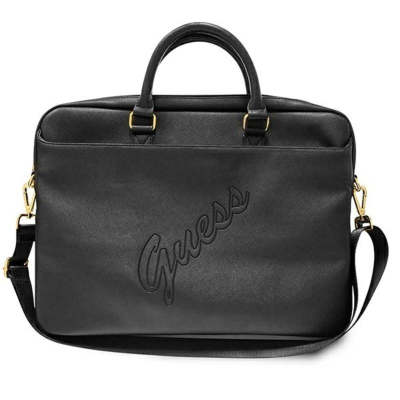 """Guess Saffiano Script Computer Bag – Torba na notebooka 15"""" (czarny)"""