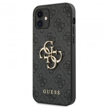 Guess 4G Big Metal Logo - Etui iPhone 12 mini (szary)
