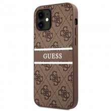 Guess 4G Stripe Collection - Etui iPhone 12 mini (brązowy)