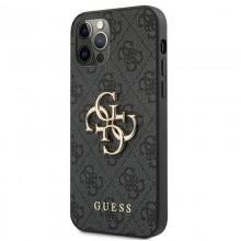 Guess 4G Big Metal Logo - Etui iPhone 12 / iPhone 12 Pro (szary)